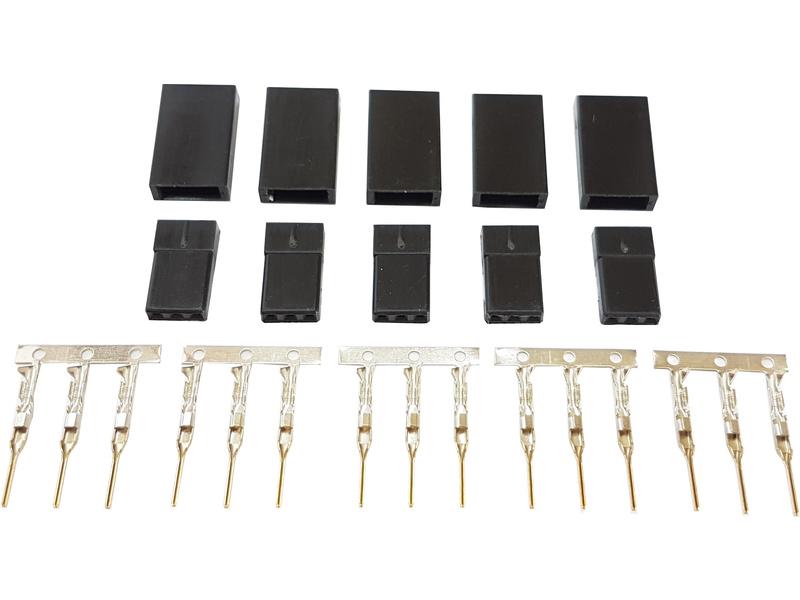 Servo konektor JR samice zlacený (5ks)