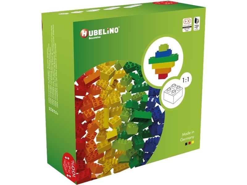 HUBELINO Kuličková dráha - barevné kostky 120 dílků