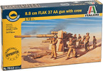 Italeri Easy Kit - 8.8 CM FLAK 37 AA GUN with crew (1:72)
