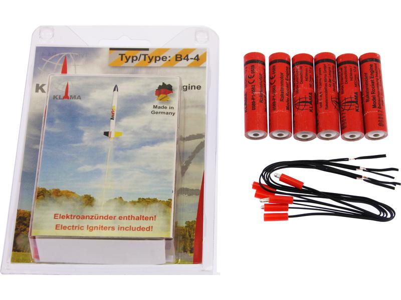 Náhľad produktu - Klima raketový motor B4-4 EL (6ks)