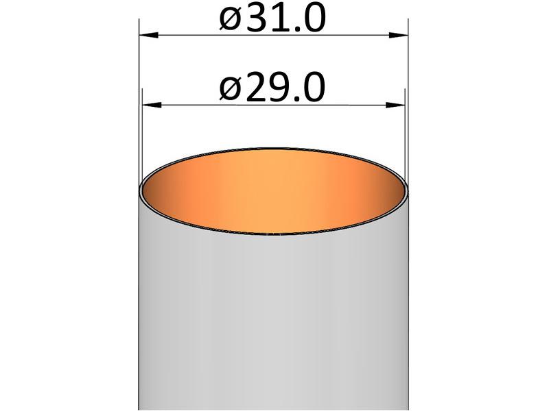 Klima papírová trubka, průměr 31 mm, délka 150 mm