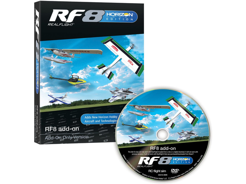RealFlight 8 simulátor Horizon Hobby – rozšíření