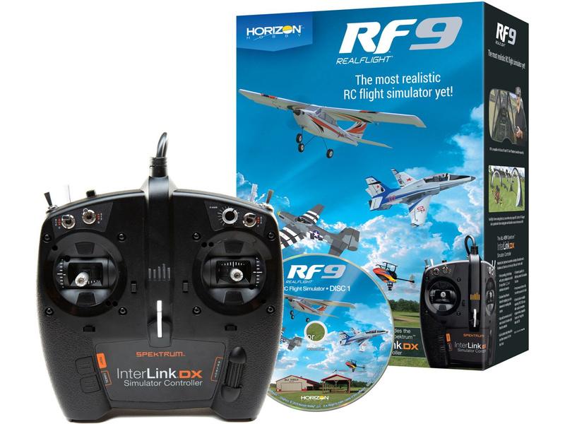 RealFlight simulátor 9 včetně ovladače Spektrum