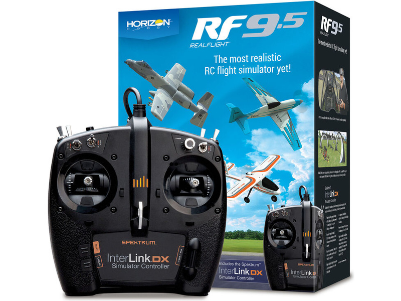 RealFlight 9.5 simulátor, ovládač Spektrum