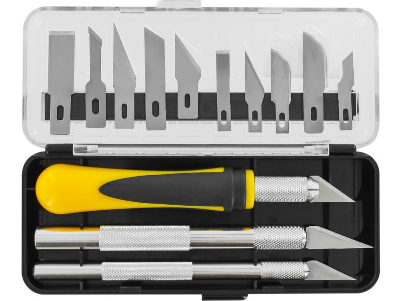Modelcraft sada 3 nožov s 13 čepeľami