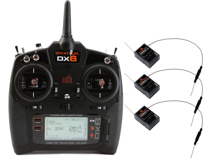 Spektrum DX6 DSMX, 3x AR610