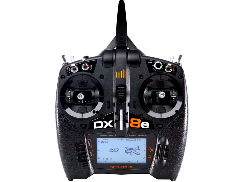 Spektrum DX8e DSMX (Mode 1–4)
