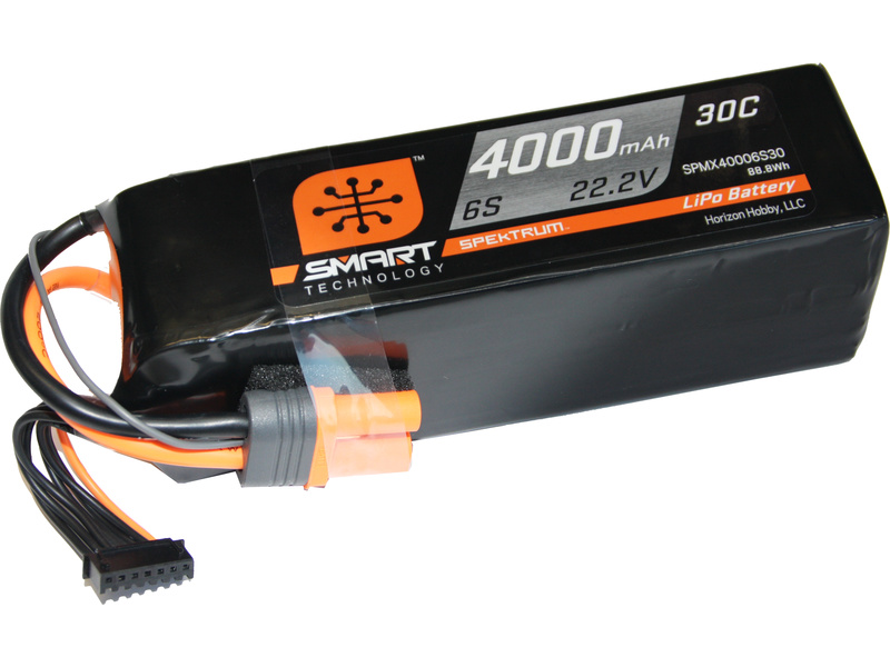 Spektrum Smart LiPo 22.2V 4000mAh 30C IC5