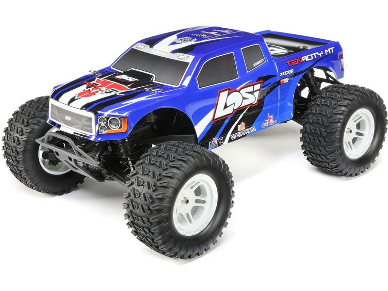 Náhled produktu - 1:10 Losi Tenacity Monster Truck 4WD AVC (modrá)