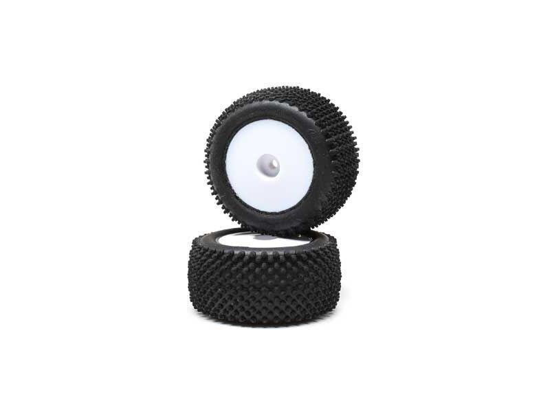 Losi kolo s pneu Pin, zadní, blý disk (2): Mini-T 2.0
