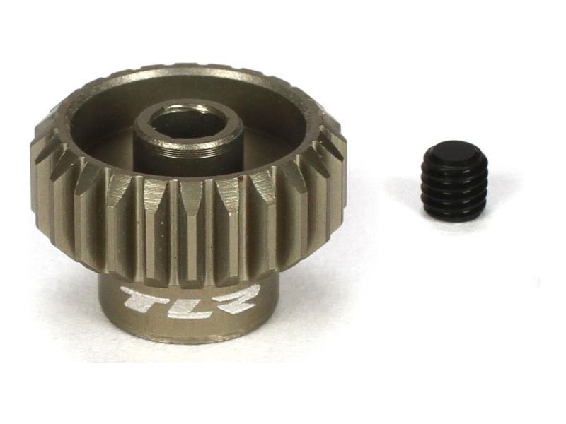 TLR hliníkový pastorek 24T, 48DP, 3,17 mm