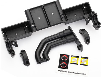 Traxxas Chassis tray/ driveshaft clamps/ fuel filler (black) / TRA8420