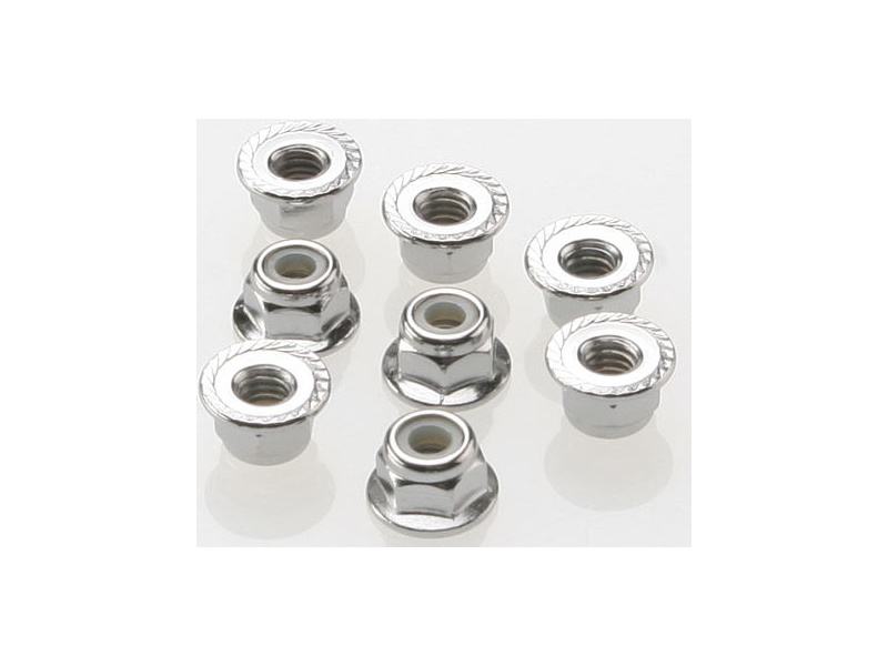 Náhľad produktu - Traxxas matice M4 samojistná s límcem ocel zink. (8)