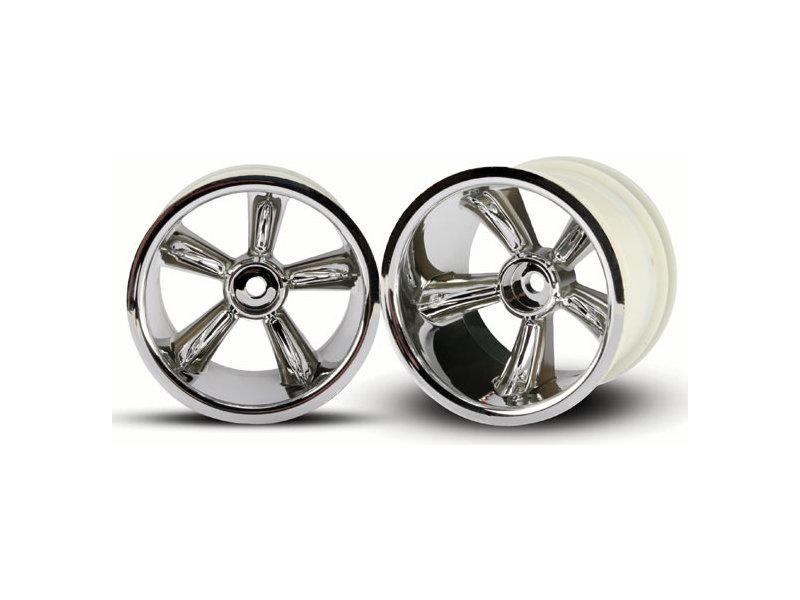 TRX Pro-Star chrome wheels (2) (rear) (for 2 2 tires
