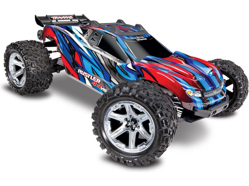 Traxxas Rustler 1:10 VXL 4WD TQi RTR modrý, TRA67076-4-BLUE, Traxxas 67076-4-BLUE
