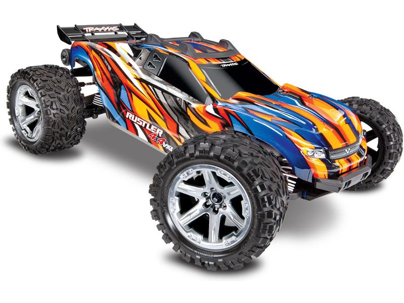 Traxxas Rustler 1:10 VXL 4WD TQi RTR oranžový, TRA67076-4-ORNG, Traxxas 67076-4-ORNG
