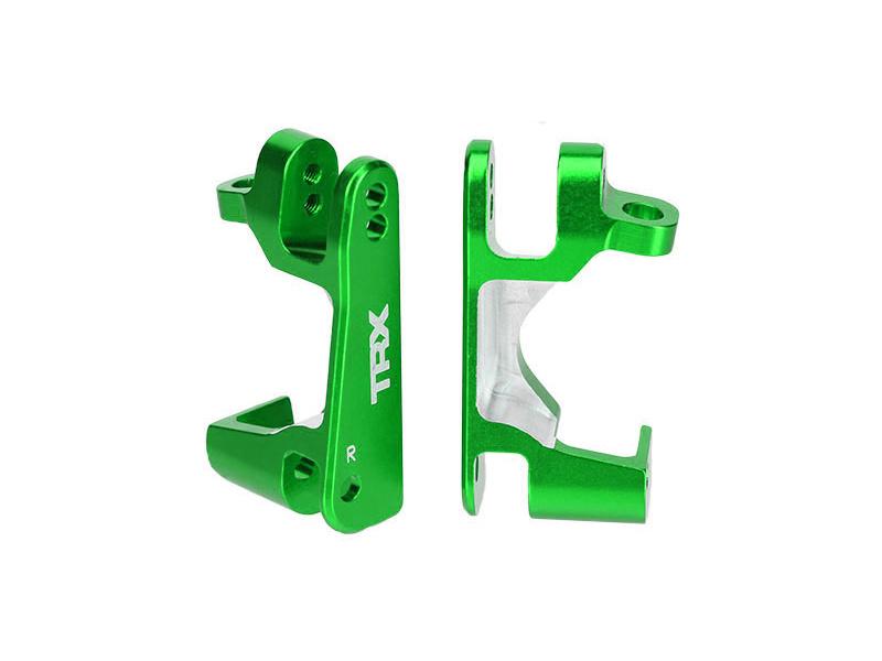 Traxxas závěs těhlice hliníkový zelený (pár), TRA6832G, Traxxas 6832G