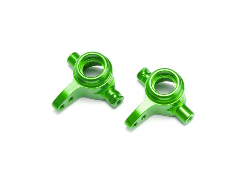Traxxas těhlice přední hliníková zelená (pár), TRA6837G, Traxxas 6837G