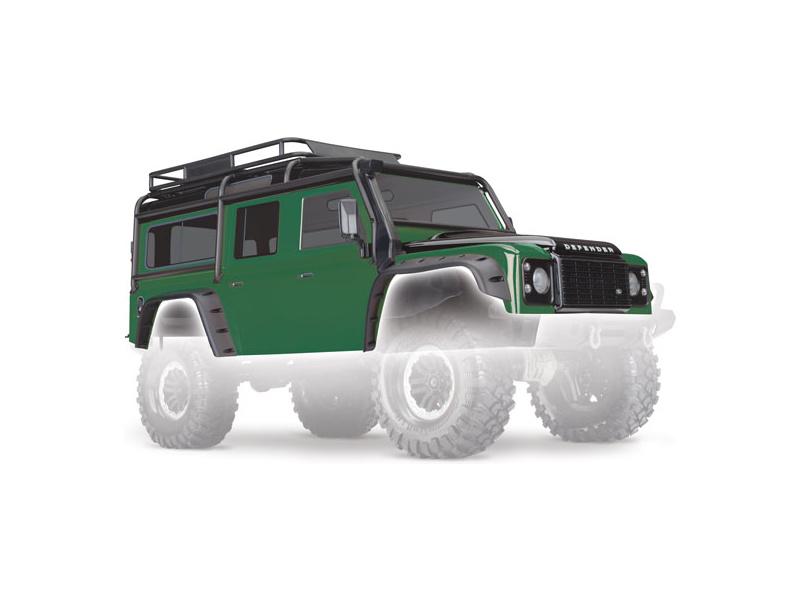 Traxxas karosérie Land Rover Defender zelená: TRX-4