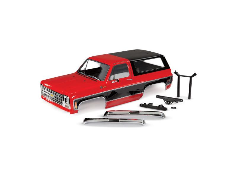 Traxxas karosérie Chevrolet Blazer 1979 kompletní červená, TRA8130R, Traxxas 8130R