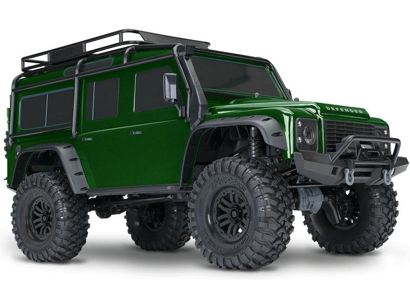 1:10 Traxxas TRX-4 Land Rover Defender TQi RTR (zelený)