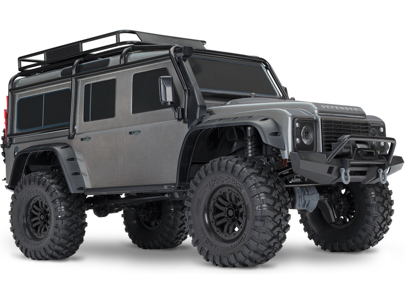 1:10 Traxxas TRX-4 Land Rover Defender TQi RTR (šedý)