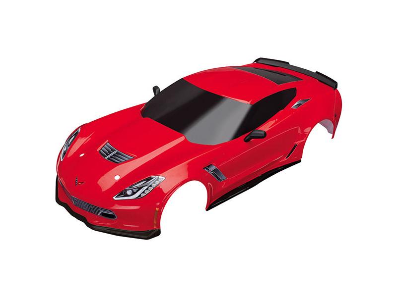 Traxxas karosérie Chevrolet Corvette Z06 červená, TRA8386R, Traxxas 8386R