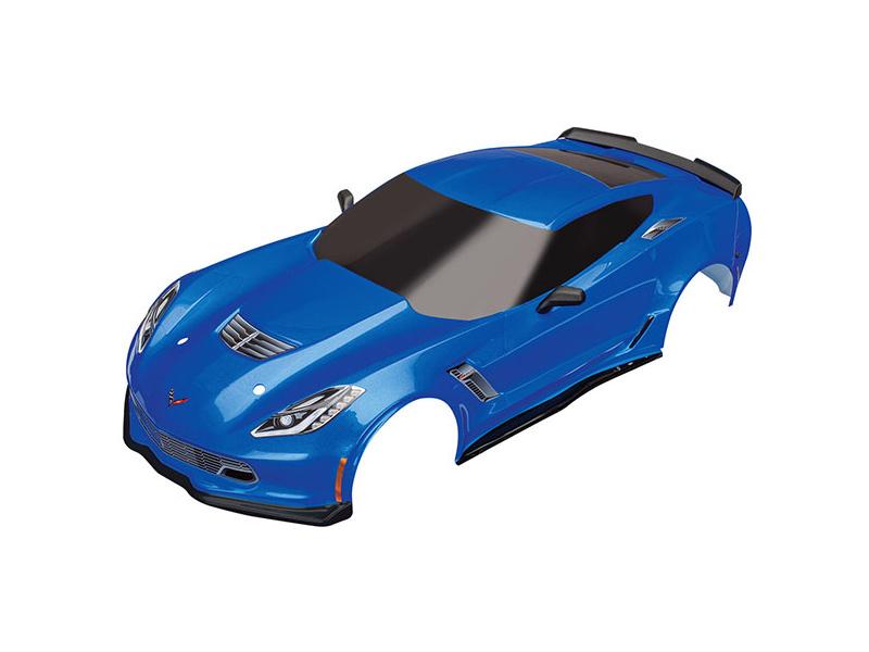 Traxxas karosérie Chevrolet Corvette Z06 modrá, TRA8386X, Traxxas 8386X