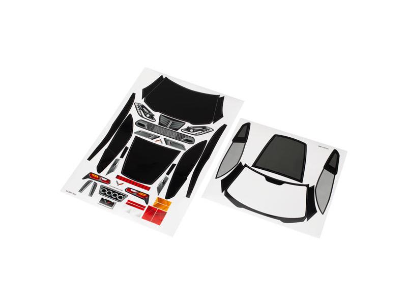 Traxxas samolepky: Chevrolet Corvette Z06, TRA8387, Traxxas 8387