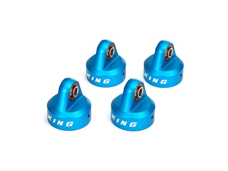 Traxxas hlava tlumiče hliníková modrá (King) (4), TRA8457, Traxxas 8457