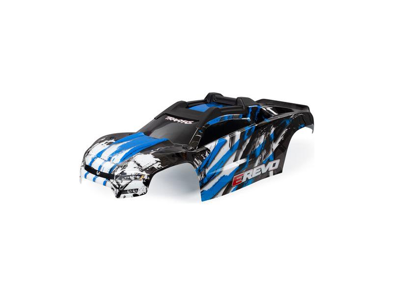 E-Revo: Traxxas karoserie E-Revo (modrá)