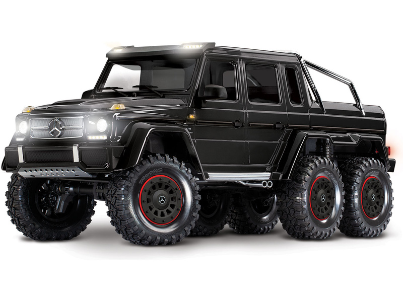 Náhľad produktu - 1:10 Traxxas TRX-4 Mercedes-Benz G63 6×6 TQi RTR (čierny)
