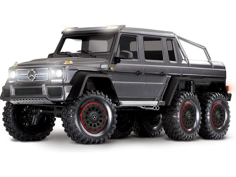 1:10 Traxxas TRX-4 Mercedes-Benz G63 6×6 TQi RTR (strieborný)