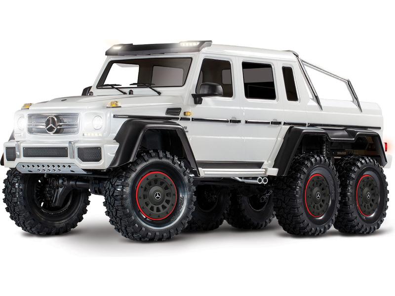 1:10 Traxxas TRX-4 Mercedes-Benz G63 6×6 TQi RTR (White)