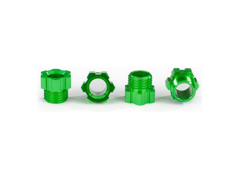 Traxxas matice hřídele hliníková, zelená (4 ks)