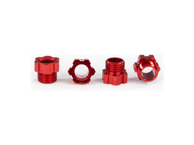 Traxxas matice hřídele hliníková, červená (4 ks)