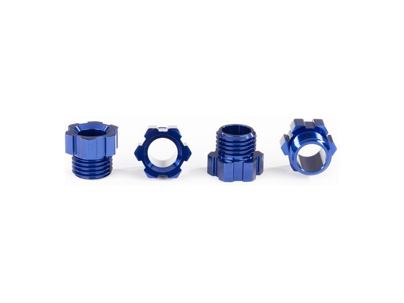 Traxxas matice hřídele hliníková, modrá (4 ks)