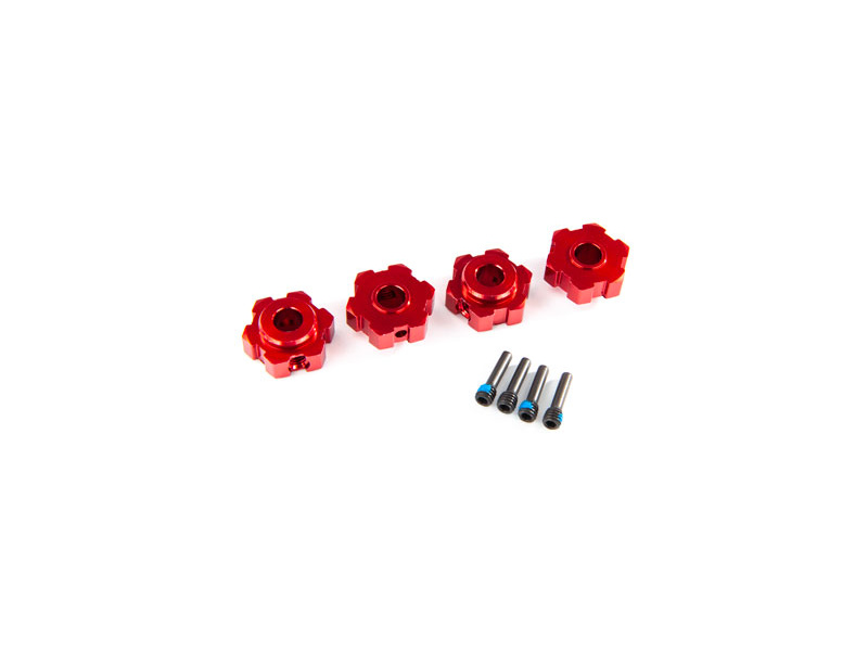 Traxxas náboj kola hliníkový červený (2), TRA8956R, Traxxas 8956R