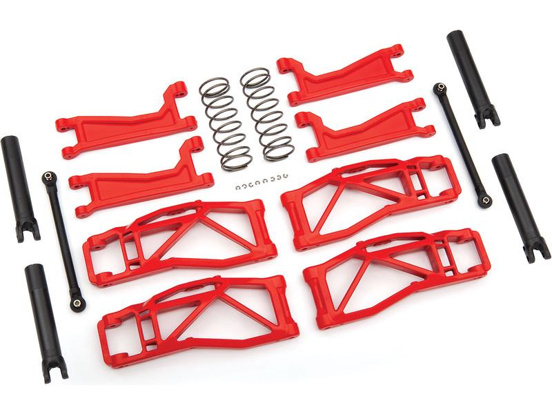 Traxxas sada závěsu kol červená (pro WideMaxx), TRA8995R, Traxxas 8995R