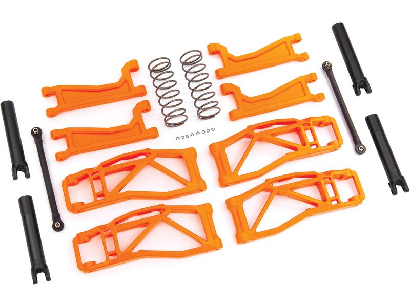 Traxxas sada závěsu kol oranžová (pro WideMaxx), TRA8995T, Traxxas 8995T